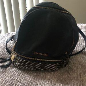 Michael Kors Medium Rhea Studded Black Backpack